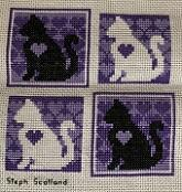 Cross stitch square for Rachel B.'s quilt